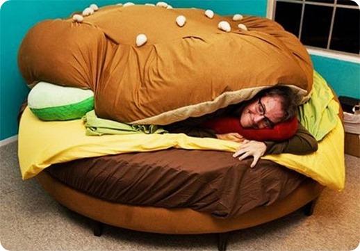 cheeseburger bed