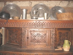 Plimoth Plant storage chest and pewter