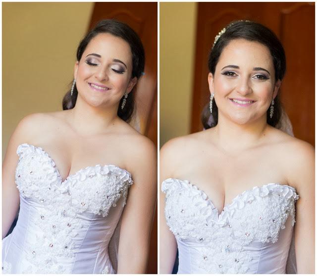 maquiagem e vestido de noiva