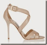 Jimmy Choo snake effect leather sandals