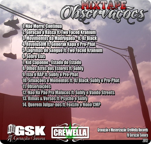 IV - Mixtape Observações Back