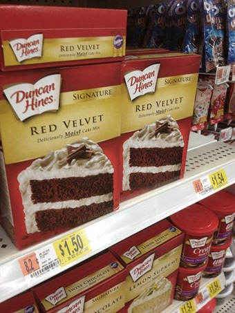 I would love to make red velvet cake from scratch, but it always comes out dry. Cake mix it is! I'm making everything else from scratch though. :)