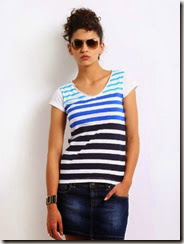 Roadster Casual Short Sleeve Printed Women's Top Starts at Rs. 89 only