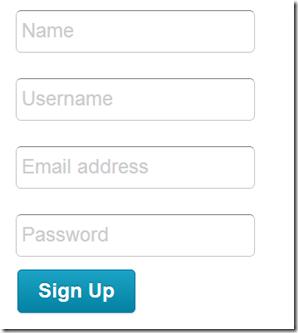 Kontactr Signup form
