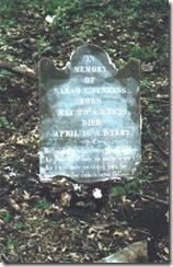 1867 TX Sarah C Jenkins tombstone