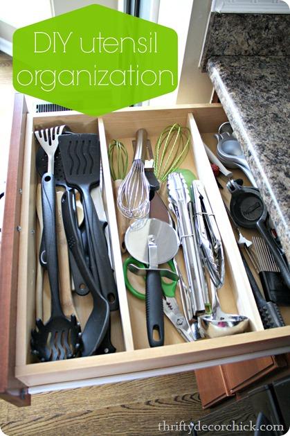 DIY utensil organizer
