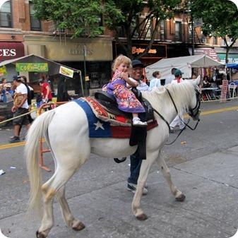 City Girl Rides a Horse