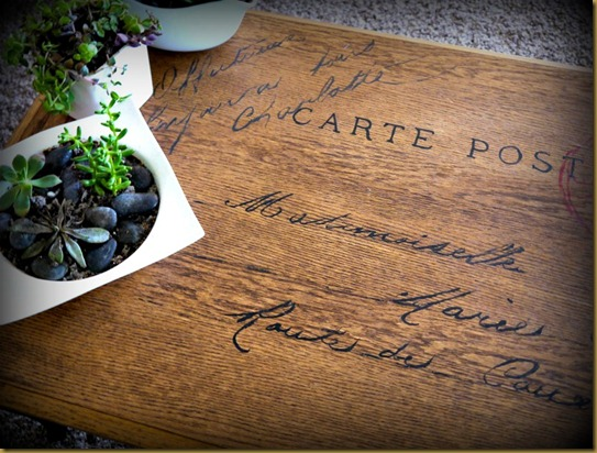 postcard table