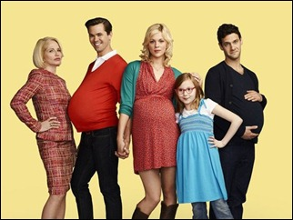 Elenco da série 'The new normal', que estreia em setembro nos Estados Unidos (Foto: Divulgação/NBC)