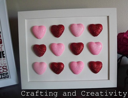 Framed Glitter Hearts 013
