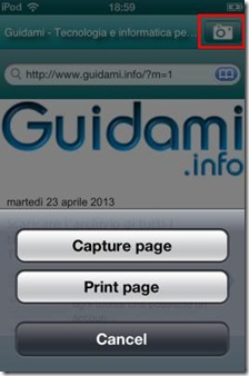 Webpage Capture per iOS Apple