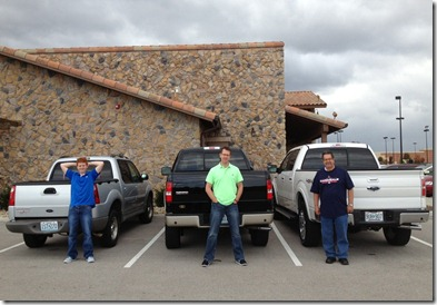 Ford Men with Ford Trucks
