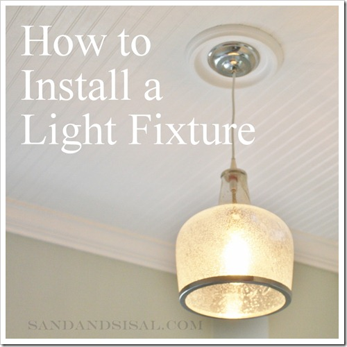 How to hang a light fixture 2
