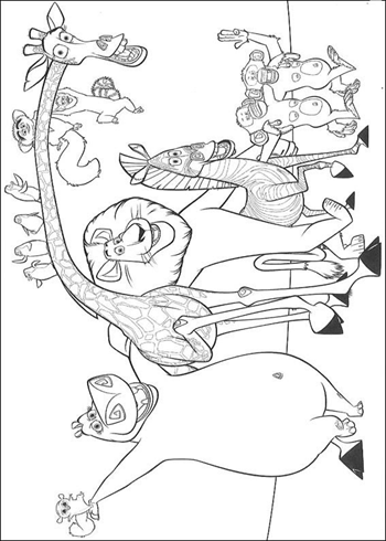 Desenho para colorir Madagascar