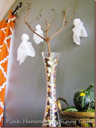 DIY Ghouly Ghost Tree @ Pink Hammers & Sippy Cups