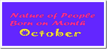 Nature of People born on Month October