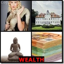 WEALTH- 4 Pics 1 Word Answers 3 Letters
