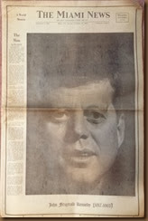 Kennedy_newspaper headline_23 Nov 1963_Miami News