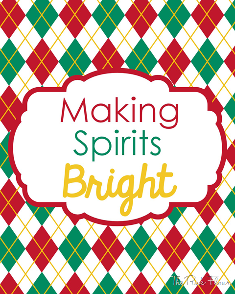 Making Spirits Bright {Free} Printable from The Pink Flour #printable #christmas