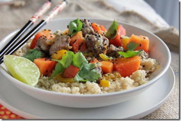 Thai Pork &amp; Papaya with WW Couscous