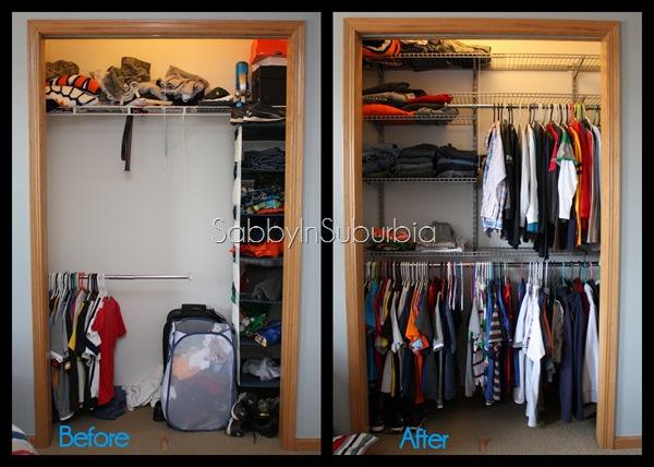 closet beforeafter
