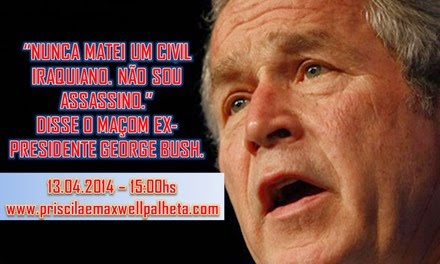 bush matando iraquianos - Priscila e Maxwell Palheta