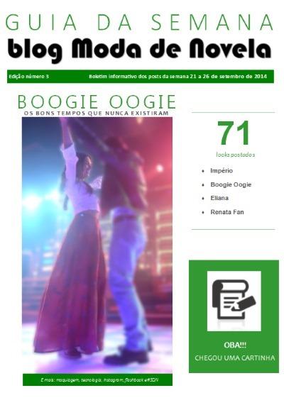 capa da revista Guia da Semana do blog Moda de Novela edição 003