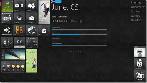 WP7Desktop-Aero Glass