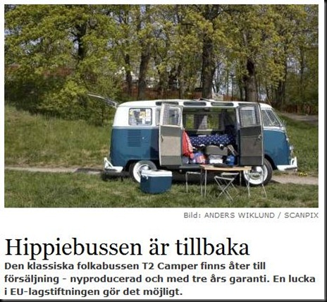Volkswagen T2 hippiebussen tillbaka nyproduktion
