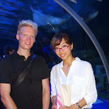in the underwater tunnel with Fumie in Shinagawa, Tokyo, Japan