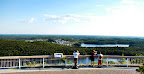 An epic view of Elliot Lake from the Fire Tower Lookout