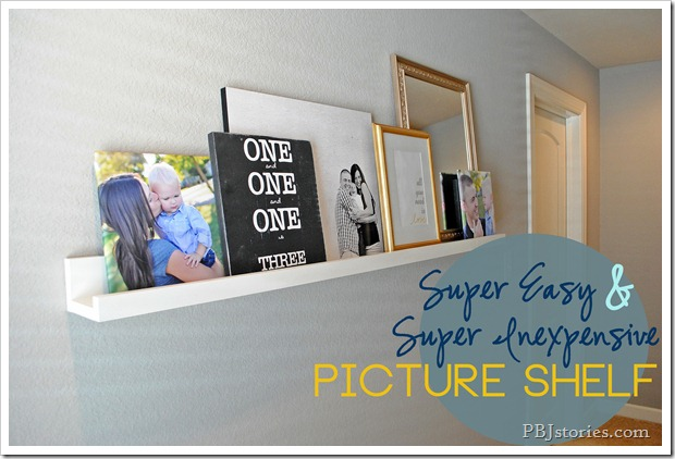 PBJstories DIY Picture Shelf Display
