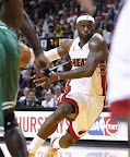 lebron james nba 121030 mia at bos 05 LeBron Sports Championship Gold LBJ X in Miami Heat Opener