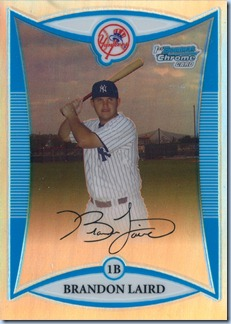 2008 Bowman Chrome Laird Refractor 474 of 500