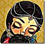 Mother Yashoda holding Krishna