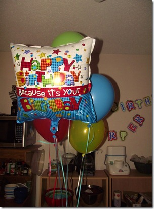 Harper wanted balloons for his birthday. so we got them!