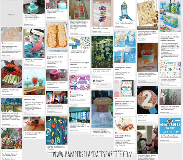 Octonauts Party Inspiration Board