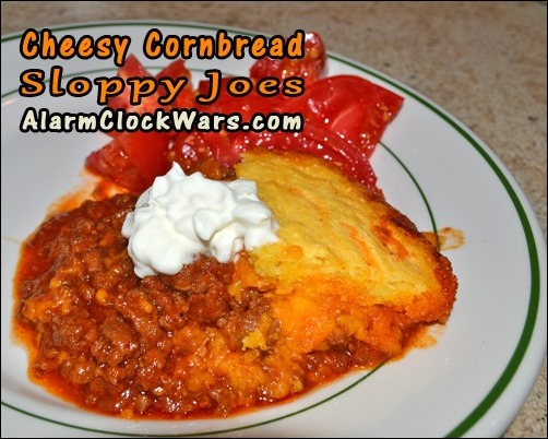 cheesy cornbread sloppy joes