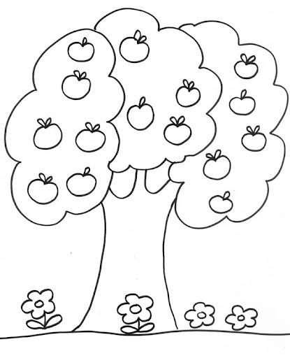 Árboles frutales para colorear e imprimir - Imagui