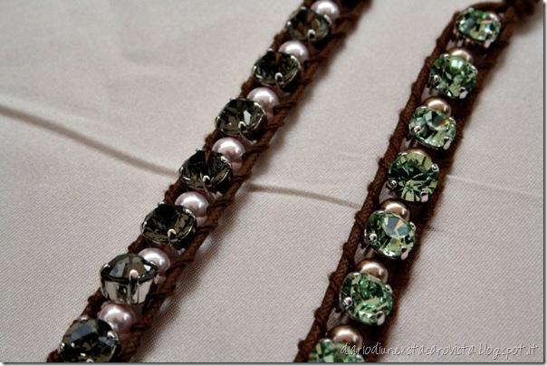 Filo corda, perle e swarovski 2