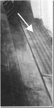 Canaleta de escoamento da água do convés B do Olympic