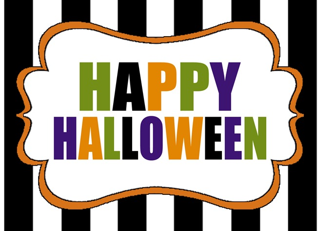 happy halloween free printable copy