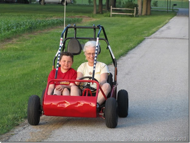 Chase and Nancy take a spin in his new vehicle.