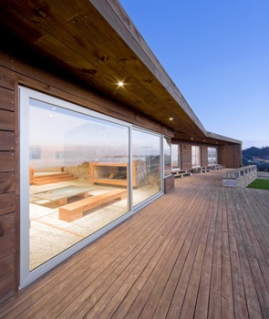Fachada Arquitectura casa de madera