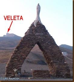 Virgen de las Nieves con el Veleta al fondo - Sierra Nevada