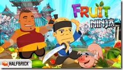 واجهة لعبة تقطيع الفواكة للأيفون Free Fruits Ninja