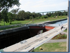 5338 Ontario - Sault Sainte Marie, ON - Sault Ste. Marie Canal National Historic Site - view of Canadian Lock from atop observation platform