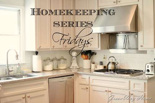 Homekeeping series-fridays