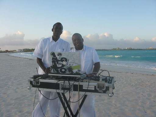 DJs brought great play lists to the beach side reception.