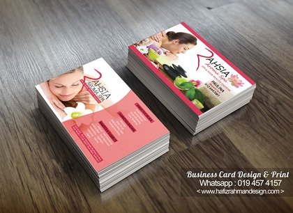 BUSINESS CARD DESIGN RAHSIA AROMA SPA 2